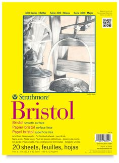 """Strathmore Bristol Smooth 9"""" X12"""" Pad 