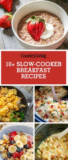 Make breakfast quickly and easily thanks to these delicious, slow-cooker breakfast recipes.