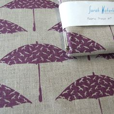 Hand printed BerryPurple Bird Brolly fabric - Folksy - I have SO nearly bought her work SO many times!!