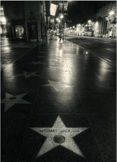 Michael Jackson's star on the Hollywood Walk of Fame. Before I die I am going to see it. And the house he grew up in