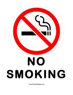 Printable No Smoking Sign Free Download No smoking Signs PDF ...