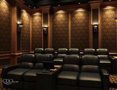 gorgeous cinema room thats what im talkin bout find this pin and more on ultimate home theater designs - Home Theater Design