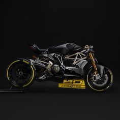 Another custom Ducati unveiled at Verona, the XDiavel based DraXter. Wearing Panigale suspension and brakes and sporting a new, higher powered L-twin engine, this beasts ready to tear apart the drag strip. Click the photo for Ducati Cafe Racer, Inazuma Cafe Racer, Cafe Racers, Moto Ducati, Concept Motorcycles, Ducati Motorcycles, Custom Motorcycles, Custom Bikes, Ducati Diavel
