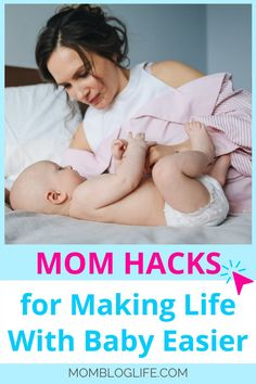 Having a new baby is challenging but using these 18 mom hacks will take some of the challenge out of it for you. Let's face it we all need some good ideas now and then to make life easier. #momhacks #tipsfornewmoms #becomingamom