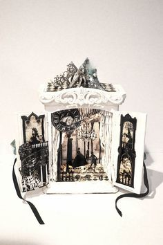 Cinderella shadow box  Diorama night lumier by Swanky Egg on Etsy