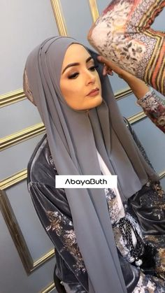 In this our model is wearing our Silver Noir Velvet Open Abaya with Floral Lace along Hijab Fashion Summer, Modern Hijab Fashion, Muslim Women Fashion, Hijab Fashion Inspiration, Mode Inspiration, Abaya Fashion, Hijab Fashion Style, New Abaya Style, Fashion Dresses