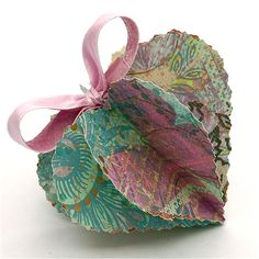 Dimensional Paper Hearts #papercrafting #craft