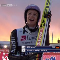 Andreas Wellinger Andreas Wellinger, Ski Jumping, Best Part Of Me, Skiing, Germany, Handsome, Sky, Jumpers, Sports