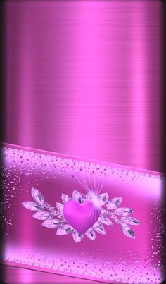 By Artist Unknown. Pink Wallpaper Heart, Gold Wallpaper Phone, Bling Wallpaper, Flowery Wallpaper, Butterfly Wallpaper, Cellphone Wallpaper, Wallpaper Backgrounds, Phone Wallpapers, Pretty Wallpapers