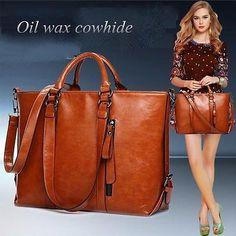 New Women Genuine Leather Bags Tote Handbags Messenger Bags Shoulder Bags