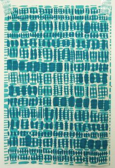 overprinted brushstrokes in seafoam and teal by summersville, £5.00