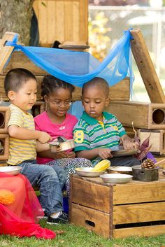 No matter how small an outdoor space, it can be made interesting, even if the equipment has to be set up and stored away each day. Outdoor Areas, Outdoor Play, Learning Through Play, Nursery, Babies, Space, Children, Blog, Ideas