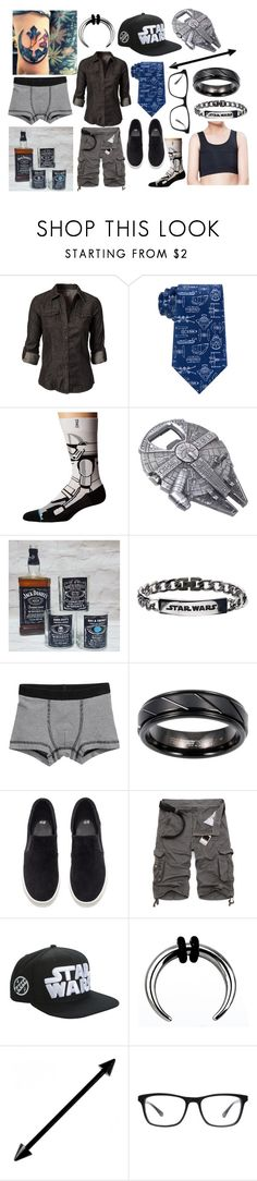 """""""Star Wars!!!"""" by summertimewaffles ❤ liked on Polyvore featuring ONLY, Stance, Cambridge Jewelry, H&M, Disney, Joseph Marc, men's fashion and menswear"""