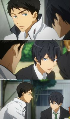 They really don't make a couple<<<< nah they don't Yamazaki Sousuke, Haruka Nanase, Free Iwatobi Swim Club, Kyoto Animation, Anime Reccomendations, Free Anime, Kuroko, Funny Cute, Chloe