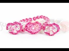 """Rainbow Loom HEART CHARM Tutorial - Advanced Level Lesson. Requires two looms. From Sara Shubnell """"...stretch the bands out a few times before putting them on the loom to prevent band breakage"""" - YouTube"""