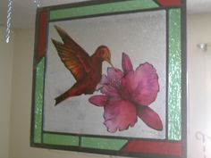 On Sale - Home decor, window hanging. Traditional hand painted stained glass, kiln fired. Just Beautiful!
