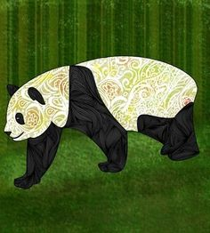 panda art, want to frame for my bedroom!