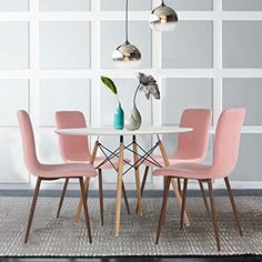Image result for pink dining chairs uk
