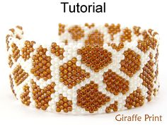 Bracelet Beading Jewelry Tutorial Pattern Zebra Print Animal