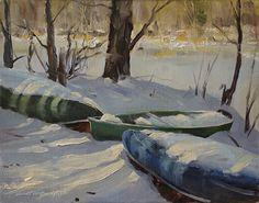 "Long Winters Nap by Barrett McDevitt Oil ~ 11"" x 14"""