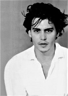 Johnny Depp photographed by Bettina Rheims, 1991.