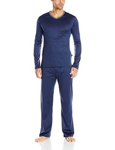 7d193c57f5 Derek Rose Men s Cotton Jersey V-Neck Pajama Set Men s Pajamas