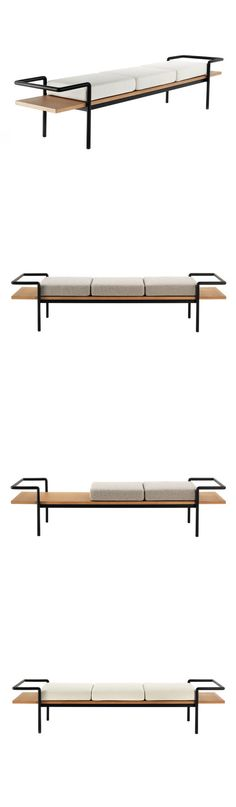 Gastone Rinaldi T 904 Bench. Wait, this is amazing. You can remove one, or two cushions, and create two new designs! Curation of MCM design has truly jumped the shark.