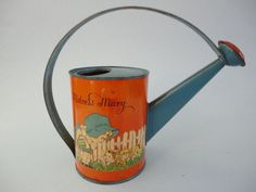 Vintage T. Cohn Litho Mistress Mary Tin Child's Watering Sprinkler Can #TCohnInc