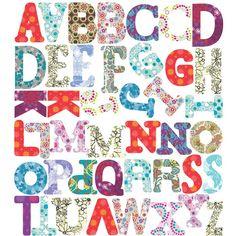 Funky Alphabet Wall Stickers