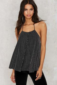 Nasty Gal Live a Little Lurex Halter Top - Clothes | All Things Glitter | All | Shirts + Blouses | Tops | Sequins & Glitter