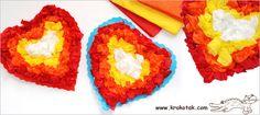 Сърце от цветна хартия