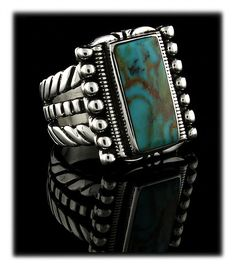 Turquoise Mountain Turquoise Mens Ring
