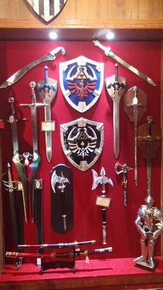 Some Legend of Zelda equipment at Medieval Times