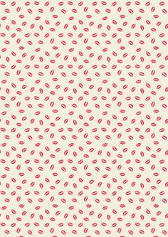 Kisses pattern A/W15 - Rice.dk by Studio Sjoesjoe