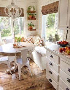 sweet home 7 Breakfast Nook Ideas that Dont Break - Kitchen Nook, Kitchen Remodel, Home Remodeling, Cheap Home Decor, Home Decor, House Interior, Cottage Interiors, Home Kitchens, Kitchen Design