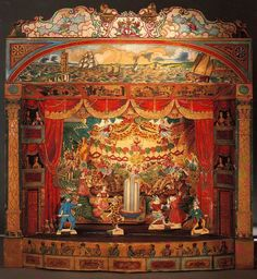 Toy Theatre by A. How Mathews, England, c1900 from http://venetianred.net/2009/06/15/the-plays-the-thing-a-history-of-toy-theater-in-three-acts/#