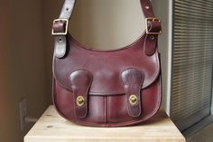 RESERVED - RARE - Authentic Vintage Coach Pony Express Bag - Made in NYC - Oxblood Burgundy Leather Shoulder Purse