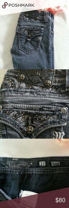 """Miss Me Jeans Skinny 27 Gray color Size 27 Miss Me Jeans Very good condition,  please check all photos Waist 29.5"""" Hips 34"""" Inseam 31"""" Miss Me Jeans Skinny"""