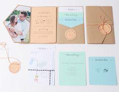 Der dritte Teil meines Hochzeitsupdates ist da. Heute zeige ich euch unsere Einladungskarte, die komplett selbstgemacht sind.