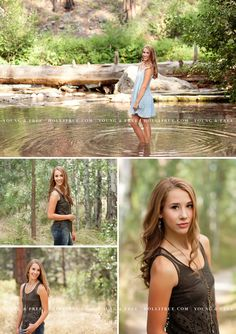Oregon senior portrait photographer, Holli True, photographs Class of 2016 high school senior, Ellie, at the beautiful, natural Shevlin Park, in Bend.