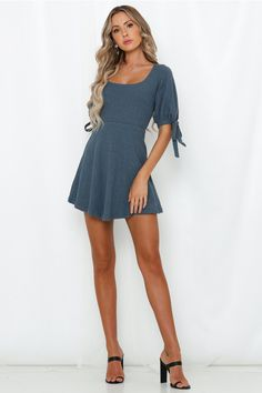 Say A Prayer Dress Midnight Blue Shannon Taylor, Casual Outfits, Cute Outfits, Say A Prayer, Brunch Outfit, Scoop Neck Dress, Latest Dress, Midnight Blue, Spring Outfits
