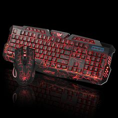 EXTR ANT Suspension Button Lighting Game Backlight Mouse and Keyboard Set Keyboard and Mouse Set Black Color : Black