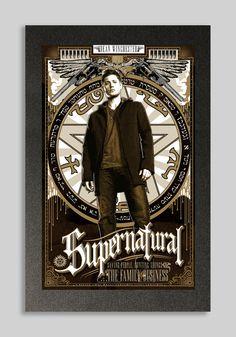 Supernatural Dean Winchester affiche 16 x 24