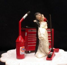Mechanic Bride and Groom Funny Wedding Cake Topper $78.99 I want ...