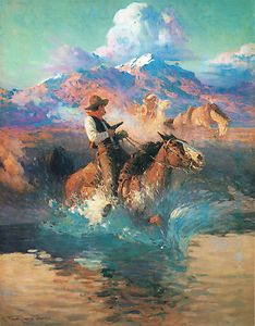 Trouble On The Pony Express / Frank Tenney Johnson kK Native American Art, American Artists, Fort Worth Art Museum, Westerns, Pony Express, Southwest Art, Wow Art, Le Far West, Country Art