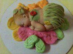 Hawaiian Baby fondant cake or cupcake topper by anafeke on Etsy, $15.00