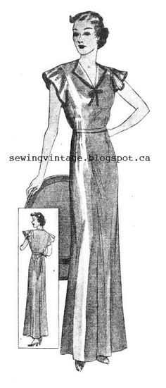 The   Vintage   Pattern   Files: 1930's Sewing - A Magic Nightgown
