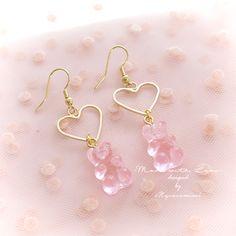 Ear Jewelry, Cute Jewelry, Resin Jewelry, Jewelery, Jewelry Making, Pink Jewelry, Girls Jewelry, Jewelry Shop, Jewelry Necklaces