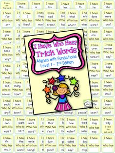 I Have Who Has? Aligned with Fundations Level 1 (FIRST GRADE) 2nd Edition! All 93 words are included in this fun learning game!