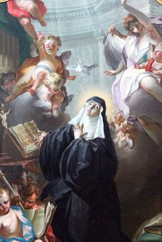 |Happy Feast Day of St Scholastica - February 10 #pinterest The twins visited each other once a year in a farmhouse because Scholastica was not permitted inside the monastery. They spent these times discussing spiritual matters. According to the Dialogues of St. Gregory the Great, the brother and sister spent their last day together ......... Awestruck Catholic Social Network